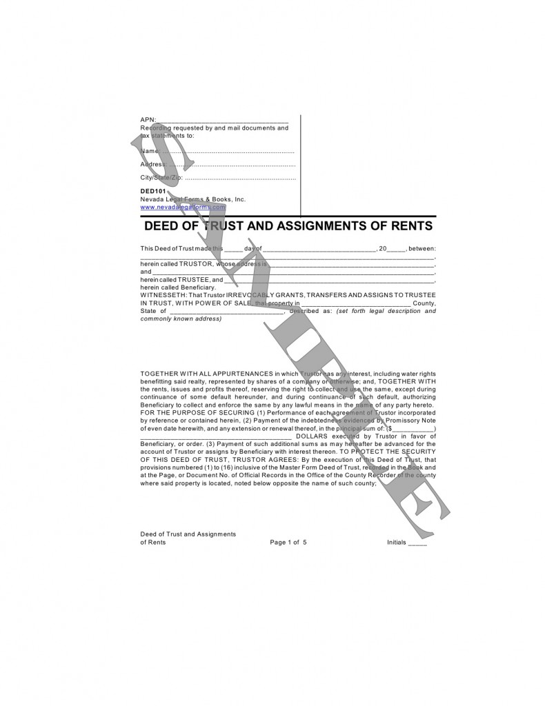 assignment of trust deed