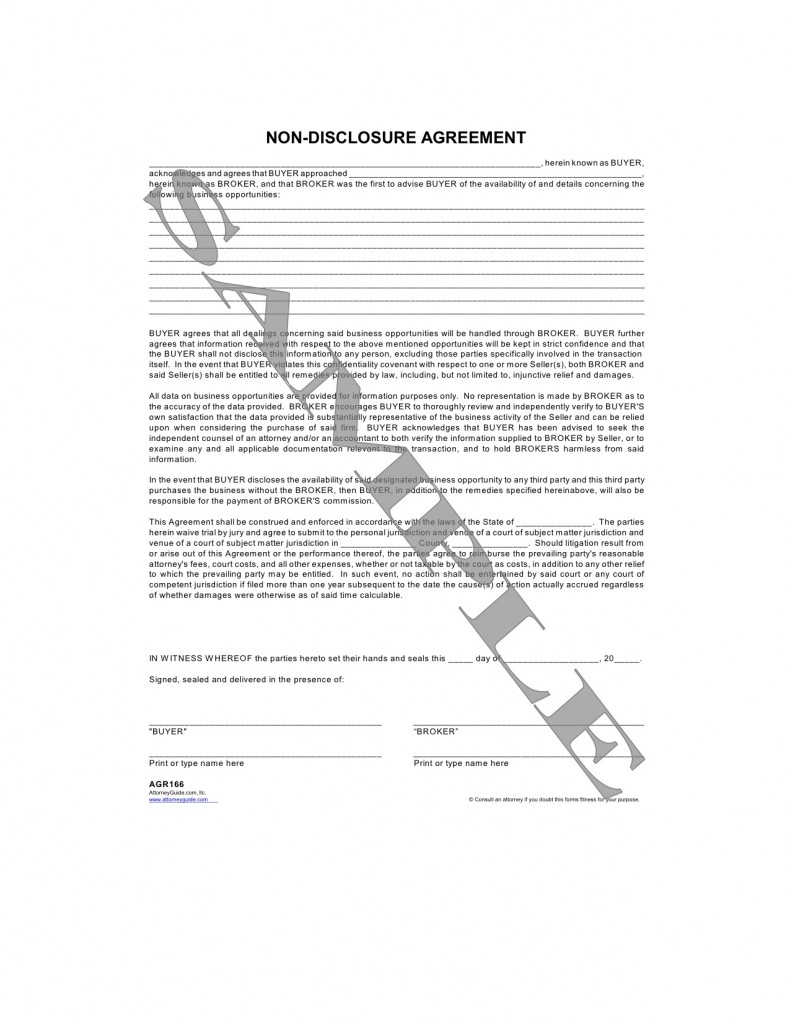 Confidentiality Agreement Form Business Associate Agreement Sles