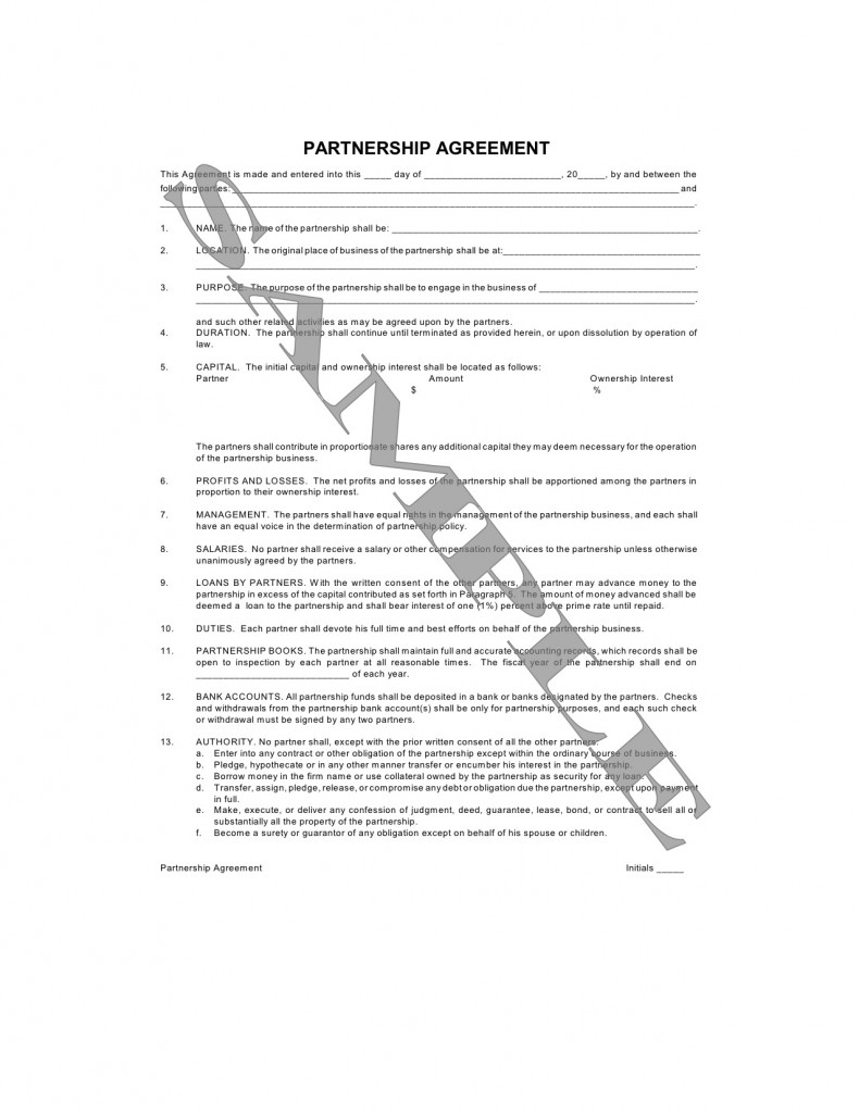 PartnershipAgreementWMI790x1024jpg – Partnership Agreement Between Two Individuals